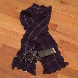 Soft purple merino wool scarf